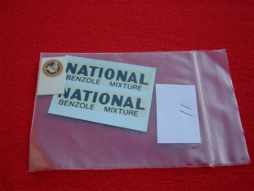 "Dinky Toys 443 Tanker ""NATIONAL BENZOLE MIXTURE"" TRANSFERS / DECALS"